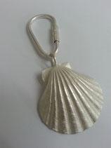 Sterling zilveren sleutelhanger met een Sint-Jacobsschelp