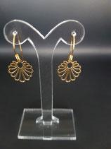 Vergulde sterling zilveren oorbellen