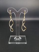 Vergulde sterling zilveren oorbellen met lange hanger