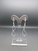 Sterling zilveren oorbellen met lange hangers
