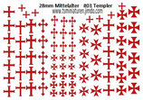 28mm Decals #03 Tempel Ritter Infanterie