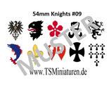 54mm Decals Mittelalter #09 Infanterie