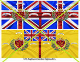 1:32 Flag Napoleon England Infanterie (92.th Inf. Regiment Gordon Highlanders)