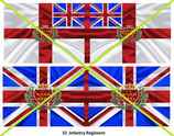 1:32 Flag Napoleon England Infanterie (32.th Inf. Regiment)