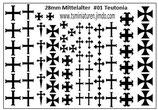 28mm Decals #01 Teutonische Ritter Kavallerie
