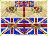 1:32 Flag Napoleon England Infanterie (81.th Inf. Regiment Loyal Lincoln)