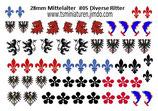 28mm Decals #05 Mittelalter Ritter