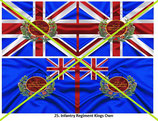1:32 Flag Napoleon England Infanterie (25.th Kings Own)