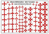 28mm Decals #02 Templer Ritter Kavallerie