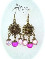 BO 'Maroc' bronze Perles magiques roses