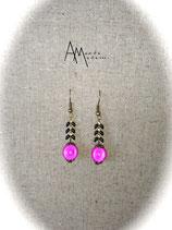 BO Epi noirs et perles magiques roses