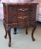 サイドテーブル おしゃれ エンドテーブル スモールチェスト ローボーイ クラシック アンティーク マホガニー無垢材 117005