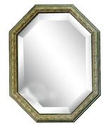 ウォールミラー おしゃれ 鏡 壁掛け 八角形 隅切り 木製 アンティーク イタリア製 ベルトーチ BERTOZZI 808223