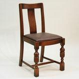サイドチェア 木製 チェア オシャレ 椅子 オーク 座面クッション バルボスレッグ パイナップルレッグ 285001