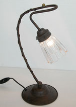 テーブルランプ おしゃれ ガラスシェードアイアン アンティーク ランプ 1灯式 LP-328
