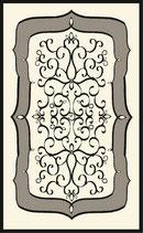 玄関マット フランス スタイルフランス alicante noir セルジュルサージュ 50-70 CM ラグマット SERGE LESAGE フランスラグマット 段通玄関マット コットン100 綿100%