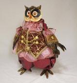 ふくろう男爵 ゴージャス ドイツ人形 クリスマス オブジェ ボルドー 35059DO-BD