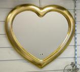 ウォールミラー おしゃれ 鏡 壁掛け ハート キューピット アンティーク イタリア製 GOLD ベルトッツィ BERTOZZI 808690