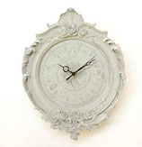 掛時計 バラ 薔薇 白い ホワイト ウォールクロック 丸 1383122