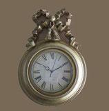 掛時計 リボン 金 ゴールド ウォールクロック 丸 1383140 GD