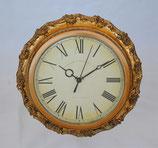 時計 オシャレ 掛時計 壁掛け時計 丸 ウォールクロック 金 ゴールド クラシック アンティーク調 138132