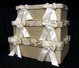 リボン ボックス 3個 セット BOX Jennifer Taylor ジェニファー・テイラー カルトナージュ Heirloom 32115BX