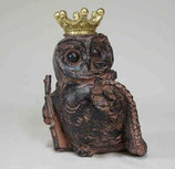オブジェ クラウン owl フクロウ 陶器 オーナメント 44313OL ふくろう David Home