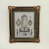 壁飾り 絵画 オシャレ 長方形 インテリア額 イタリア調 コンソール ウォールミラー ウォールオブジェ 額絵 ロココ様式 アンティーク 姫系 1383218