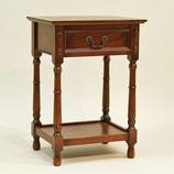 サイドテーブル おしゃれ 電話台 英国 アンティーク テーブル ベッドサイドテーブル オーク無垢 チェスト クラシック 177007