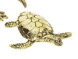 北欧雑貨 真鍮 カメ ウミガメ 亀 tortoise ブラス メタル METAL BROSTE COPENHAGEN 14461149-3