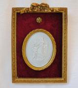 壁飾り リボン オシャレ 長方形 楕円 マリア キリスト カメオ ウォールオブジェ 額絵 レリーフ  アンティーク 姫系 1383174