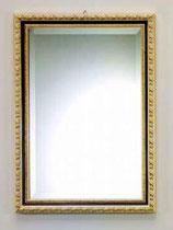 ウォールミラー おしゃれ 鏡 壁掛け 長方形 スクエア 木製 アンティーク イタリア製 ベルトッツィ BERTOZZI 808436
