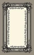 玄関マット フランス リボン スタイルフランス satine noir セルジュルサージュ 66×107 CM ラグマット SERGE LESAGE フランスラグマット 段通玄関マット コットン100 綿100%