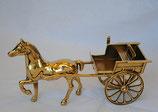 馬 煙草盆 シュガレット 馬車 イタリアンクラシック オブジェ イタリー製 インテリア雑貨 置物 真鍮 ブラス 388215 スティラーズ STILARS