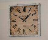 時計 壁掛け時計 巨大時計 四角 アンティーク 掛時計 オシャレ シャビーシック 角 スクエア ウォールクロック 75025WC