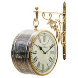 時計 両面型掛け時計 駅舎時計 壁掛け時計 掛時計 オシャレ おしゃれ ウォールクロック ウォール クロック 丸 Ethnic clock Makerts 306030