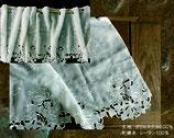 カフェカーテン レース生地 バラ 薔薇 レースカフェカーテン レースカーテン 薔薇刺繍 45×150 コットン刺繍 WK3055U1