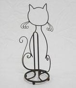 ネコ 猫 CAT キャット ペーパーホルダー キッチン トイレ ブラック 74038PH-BK