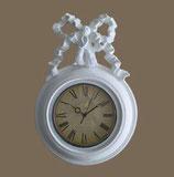 掛時計 リボン 白い ホワイト ウォールクロック 丸 1383139 WH