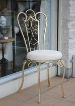 サイドチェア アイアンチェア オシャレ 椅子 金 ゴールド アイアン クッション 折り畳み 299002