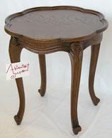 ランプテーブル おしゃれ オーク無垢 ティーテーブル 縁 トレイ 丸 猫足 1136015