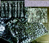 カフェカーテン レース生地 ローズカラー レースカフェカーテン レースカーテン 薔薇刺繍 バラ刺繍 45×120 WK0740U1