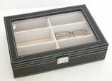 メガネケース クロコダイル メガネ サングラス 収納ボックス 6個 6本 収納 コレクション ケース 収納ケース 展示 ディスプレイ レザー風 おしゃれ ブラック 黒 コレクションケース メガネ収納 ボックス BOX
