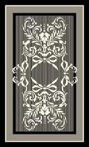 玄関マット フランス リボン スタイルフランス rubane noir セルジュルサージュ 50-70 CM ラグマット SERGE LESAGE フランスラグマット 段通玄関マット コットン100 綿100%