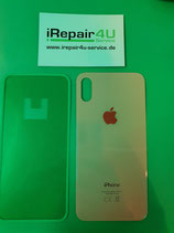 Backcover Akkudeckel Rück Cover Glas Apple iPhone XS Gold mit Kleber