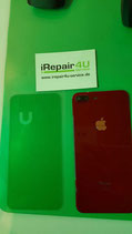 Backcover Akkudeckel Apple iPhone 8 Plus Rot Red mit Kleber und Kameralinse