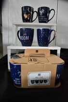 Mug Set Blue Real Gold