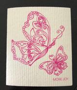 Abwaschlappen Schmetterlinge Rosa
