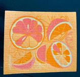Abwaschlappen Orangen