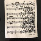 Abwaschlappen Musiknoten